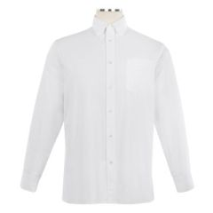 Long Sleeve Oxford Shirt with Button Down Collar - Unisex