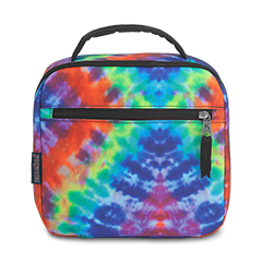 LUNCH BREAK - Jansport Lunch Bag in Red/Multi Hippie Days